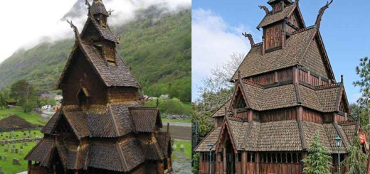 900 year old magical wooden church in Norway