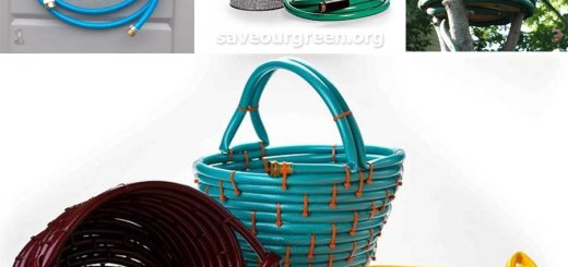 creative idea using old garden hoses