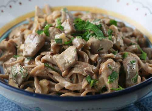 Pasta sauce with porcini mushroom