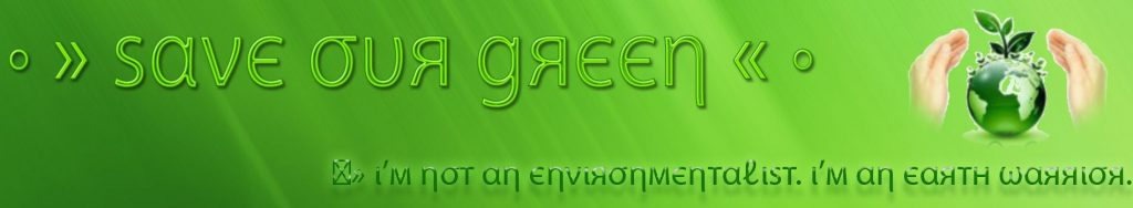 Save Our Green banner with old logo